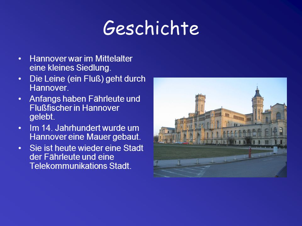 Geschichte Hannover war im Mittelalter eine kleines Siedlung.