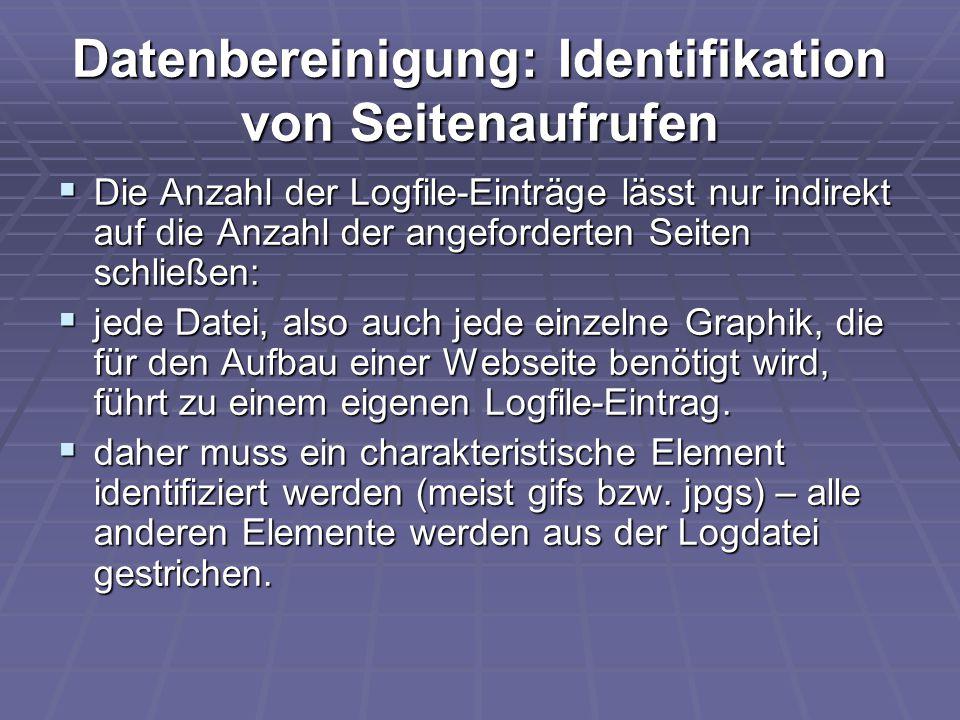 Datenbereinigung: Identifikation von Seitenaufrufen