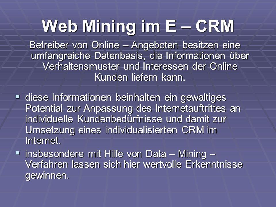 Web Mining im E – CRM