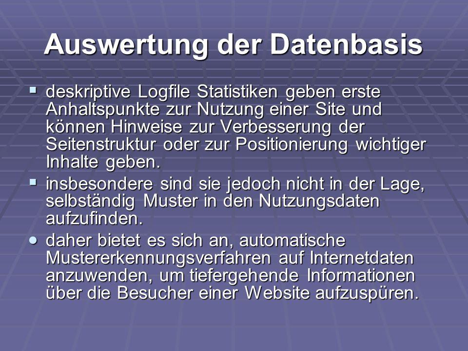 Auswertung der Datenbasis