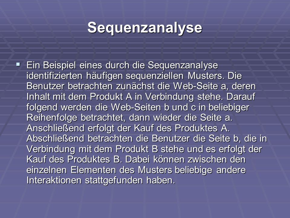 Sequenzanalyse