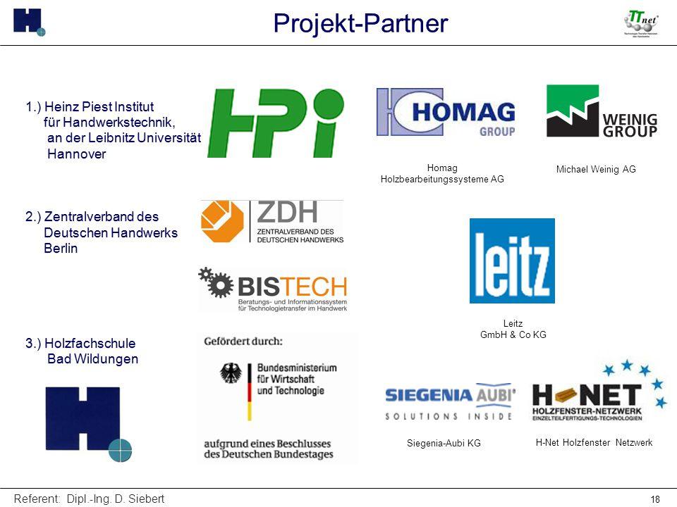 Projekt-Partner 1.) Heinz Piest Institut für Handwerkstechnik,