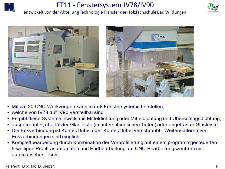 FT11 - Fenstersystem IV78/IV90