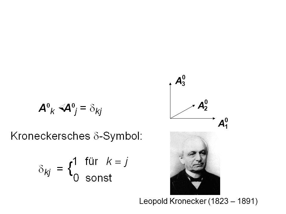 A3 A2 A1 Leopold Kronecker (1823 – 1891)