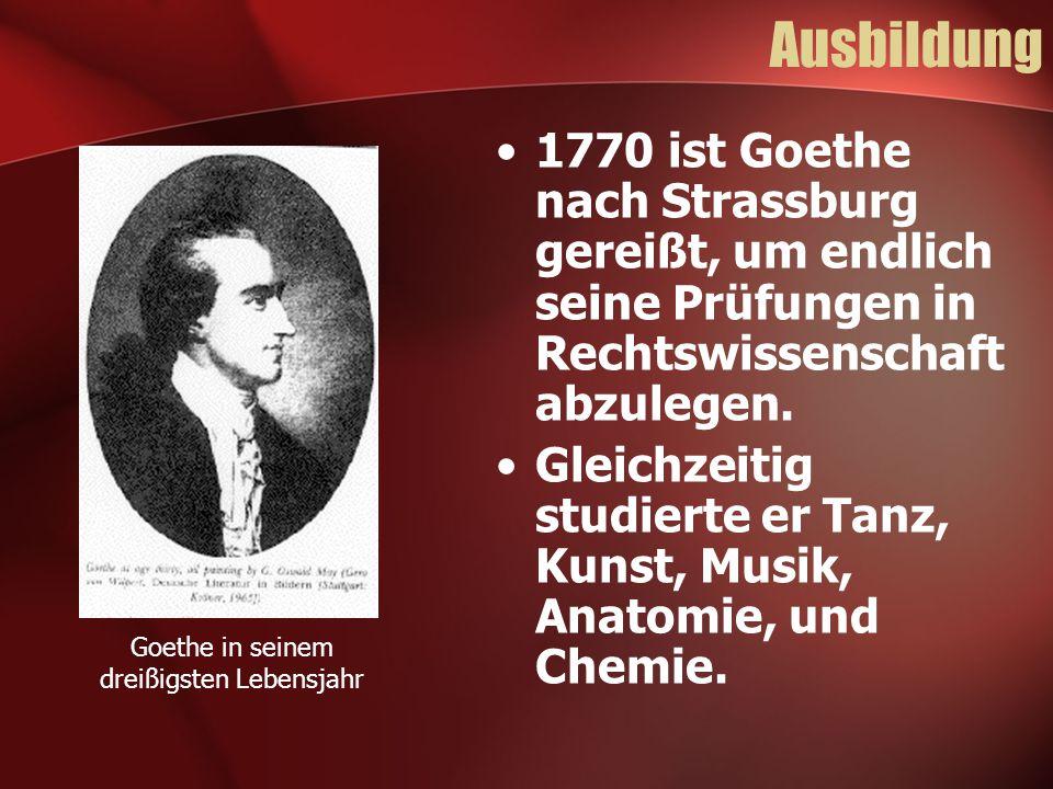 Goethe in seinem dreißigsten Lebensjahr