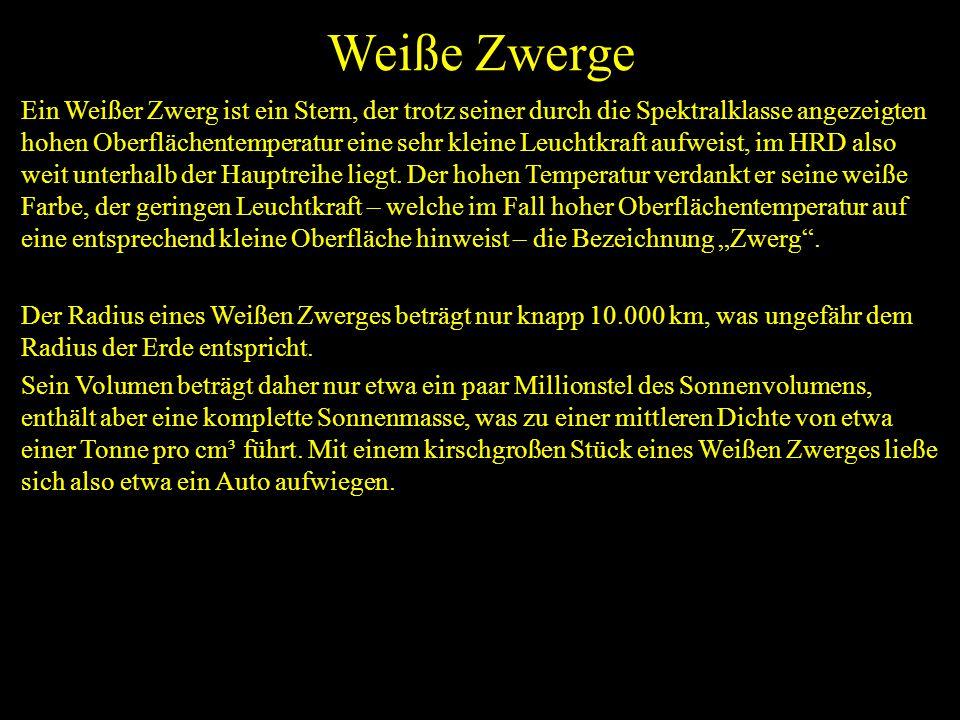 Weiße Zwerge