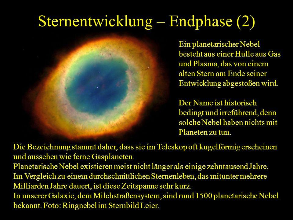 Sternentwicklung – Endphase (2)