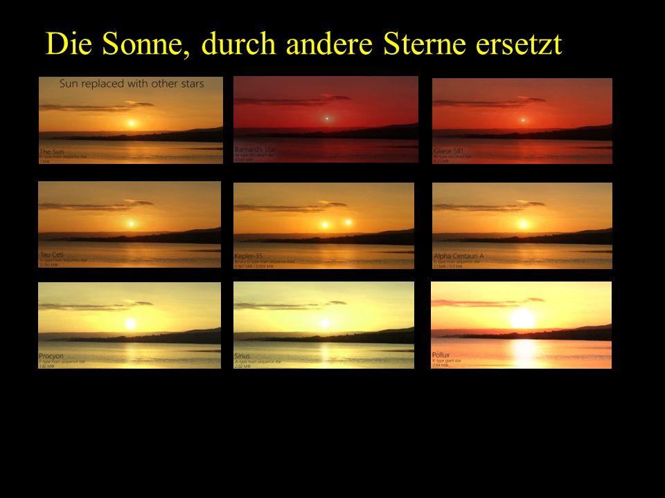 Die Sonne, durch andere Sterne ersetzt