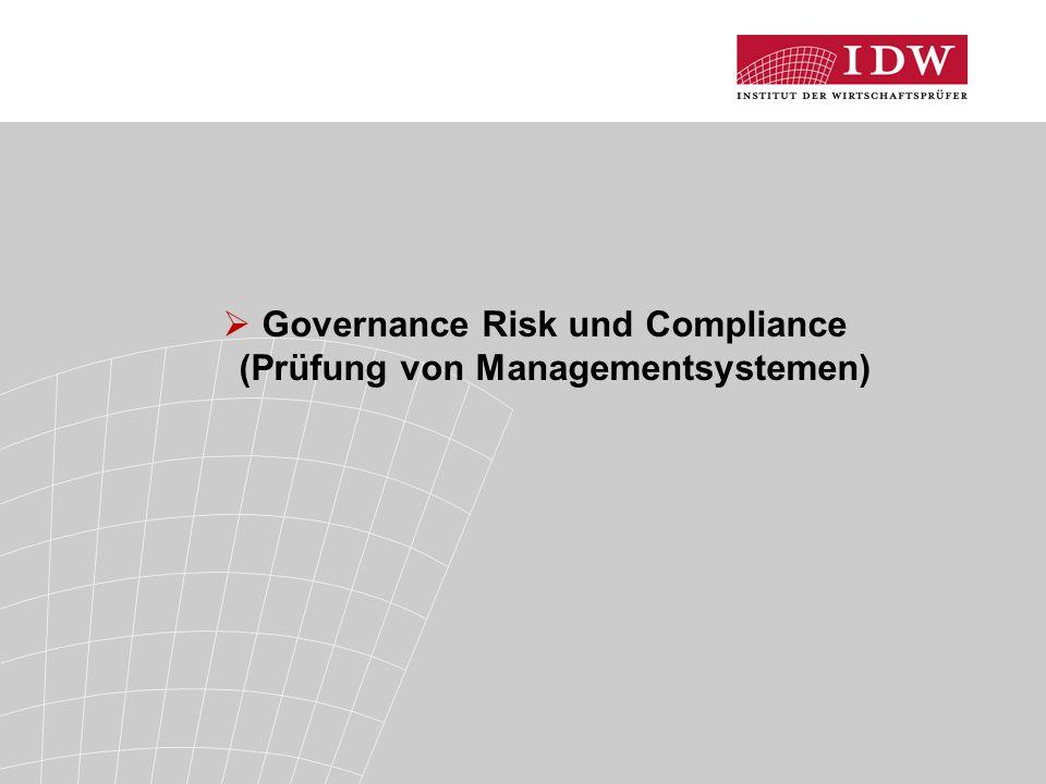 Governance Risk und Compliance (Prüfung von Managementsystemen)