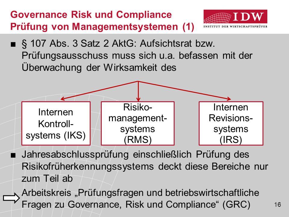 Governance Risk und Compliance Prüfung von Managementsystemen (1)