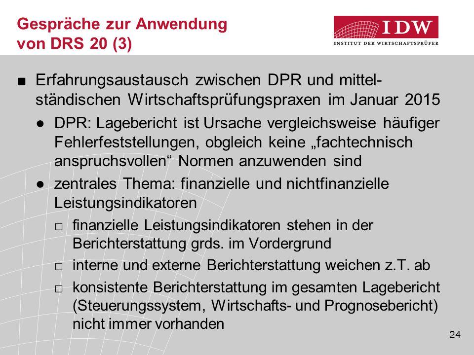 Gespräche zur Anwendung von DRS 20 (3)