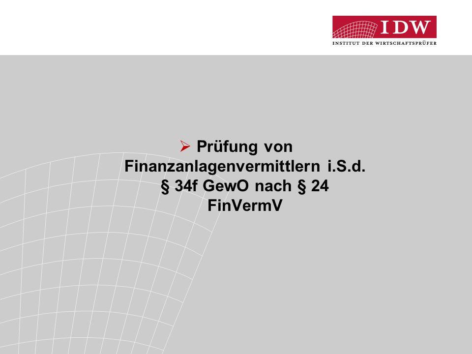 Prüfung von Finanzanlagenvermittlern i. S. d