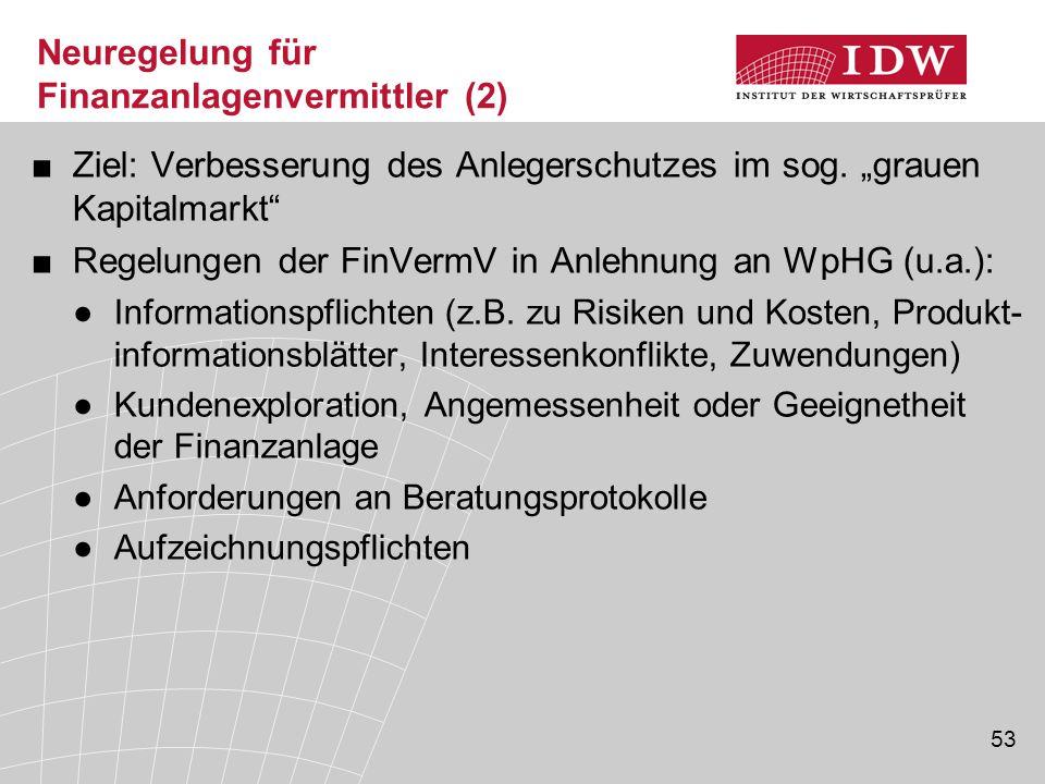 Neuregelung für Finanzanlagenvermittler (2)