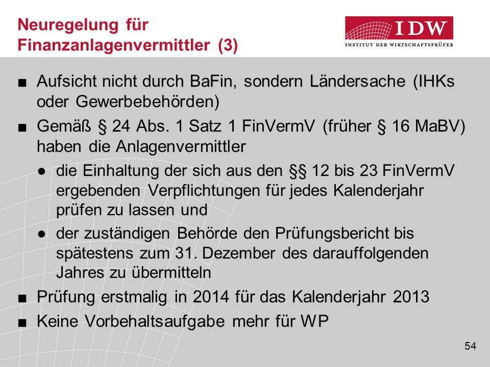 Neuregelung für Finanzanlagenvermittler (3)