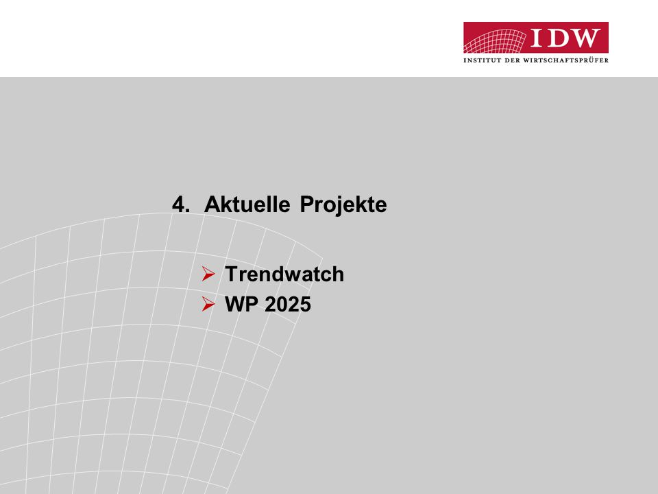 4. Aktuelle Projekte Trendwatch WP 2025