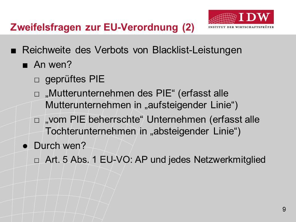 Zweifelsfragen zur EU-Verordnung (2)