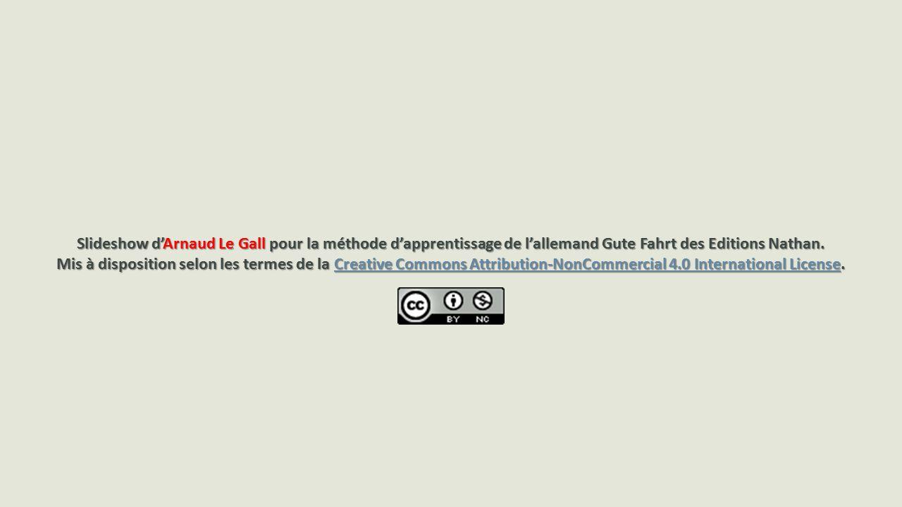 Slideshow d'Arnaud Le Gall pour la méthode d'apprentissage de l'allemand Gute Fahrt des Editions Nathan.