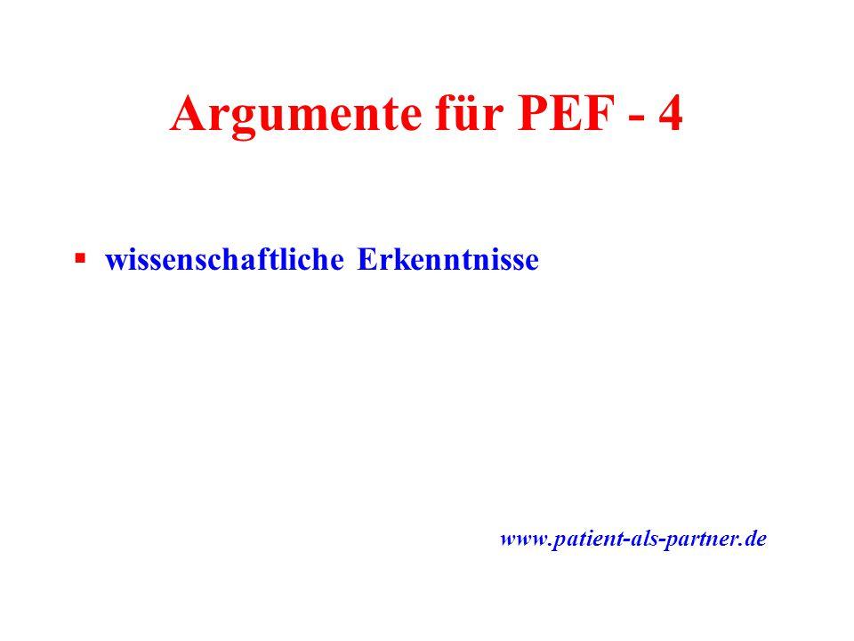 Argumente für PEF - 4 wissenschaftliche Erkenntnisse