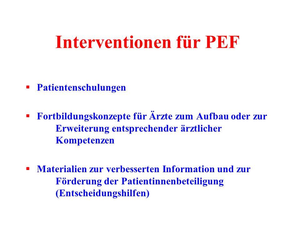 Interventionen für PEF