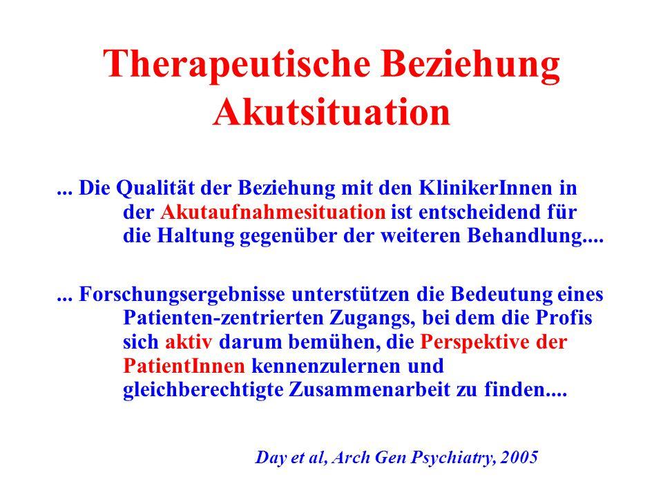 Therapeutische Beziehung Akutsituation