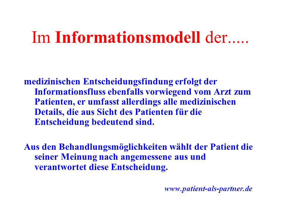 Im Informationsmodell der.....