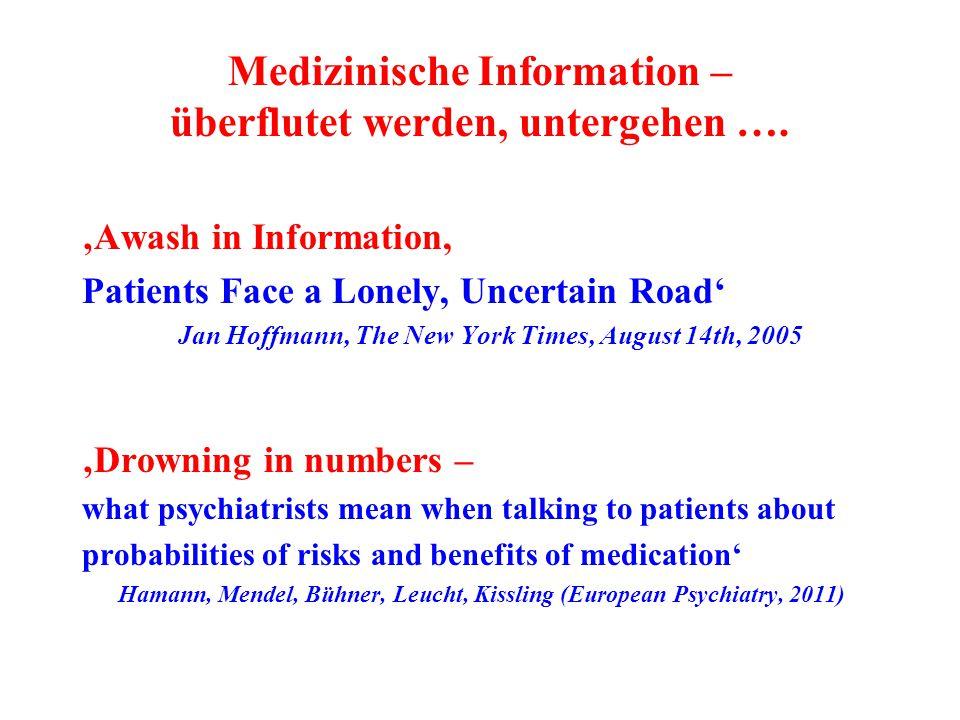 Medizinische Information – überflutet werden, untergehen ….