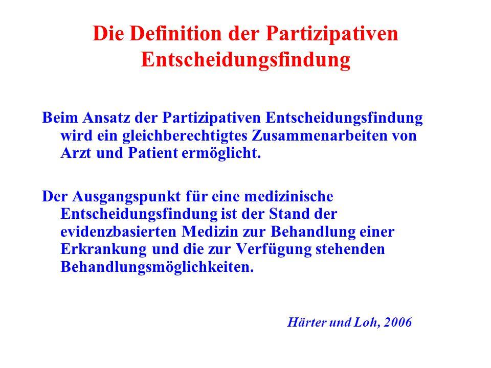 Die Definition der Partizipativen Entscheidungsfindung