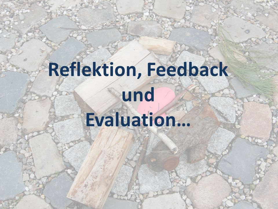 Reflektion, Feedback und Evaluation…