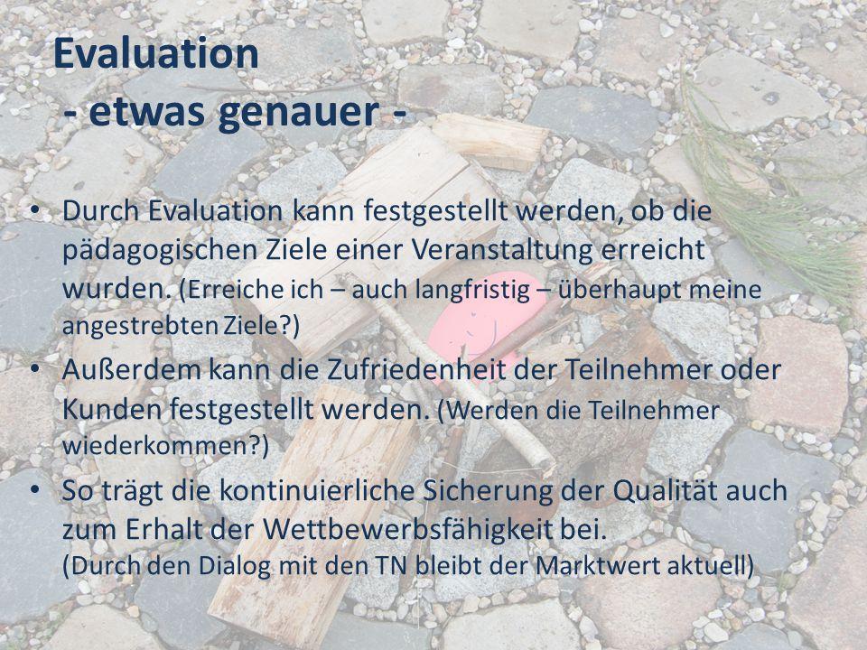 Evaluation - etwas genauer -