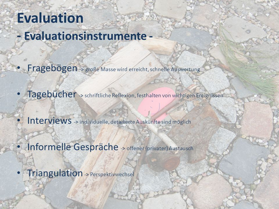 Evaluation - Evaluationsinstrumente -