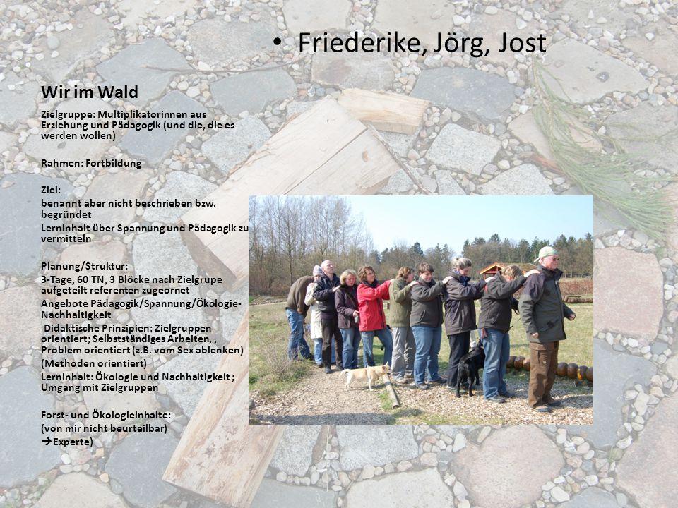 Friederike, Jörg, Jost Wir im Wald