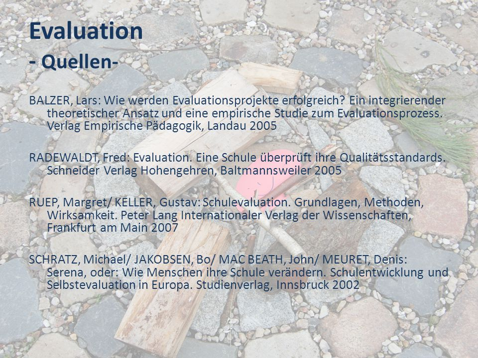 Evaluation - Quellen-