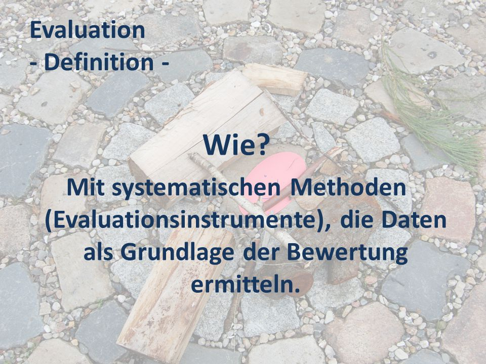 Evaluation - Definition -