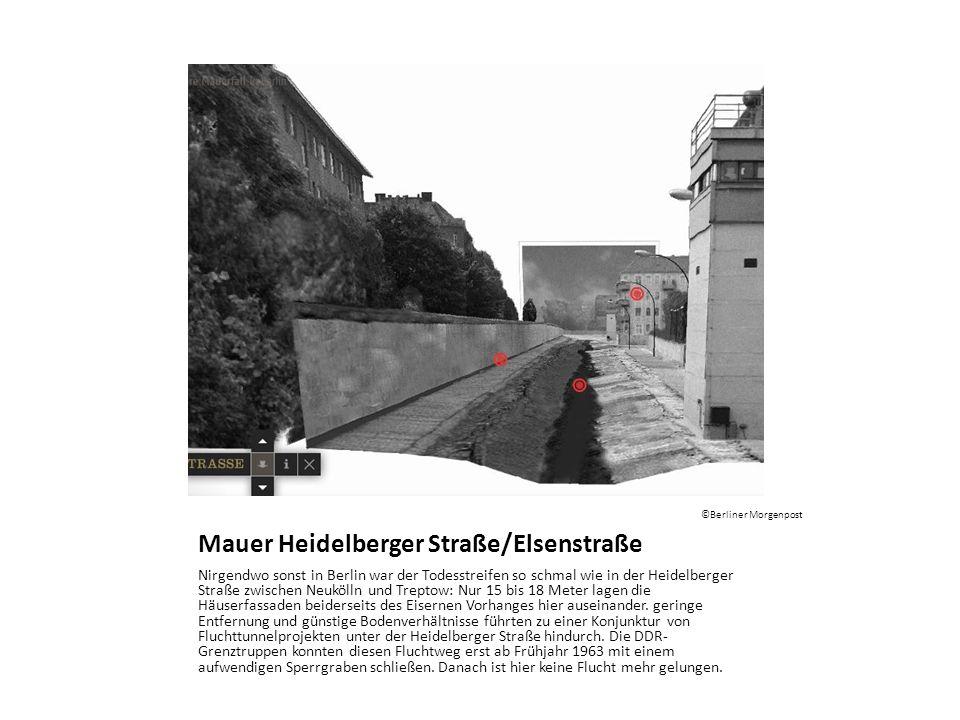 Mauer Heidelberger Straße/Elsenstraße