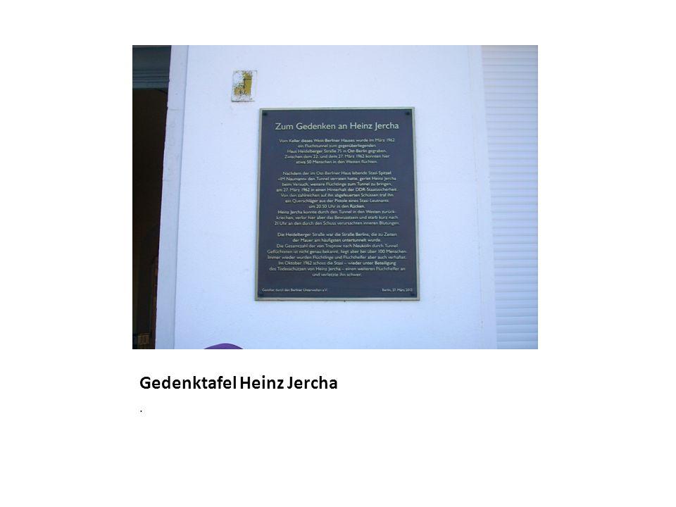 Gedenktafel Heinz Jercha