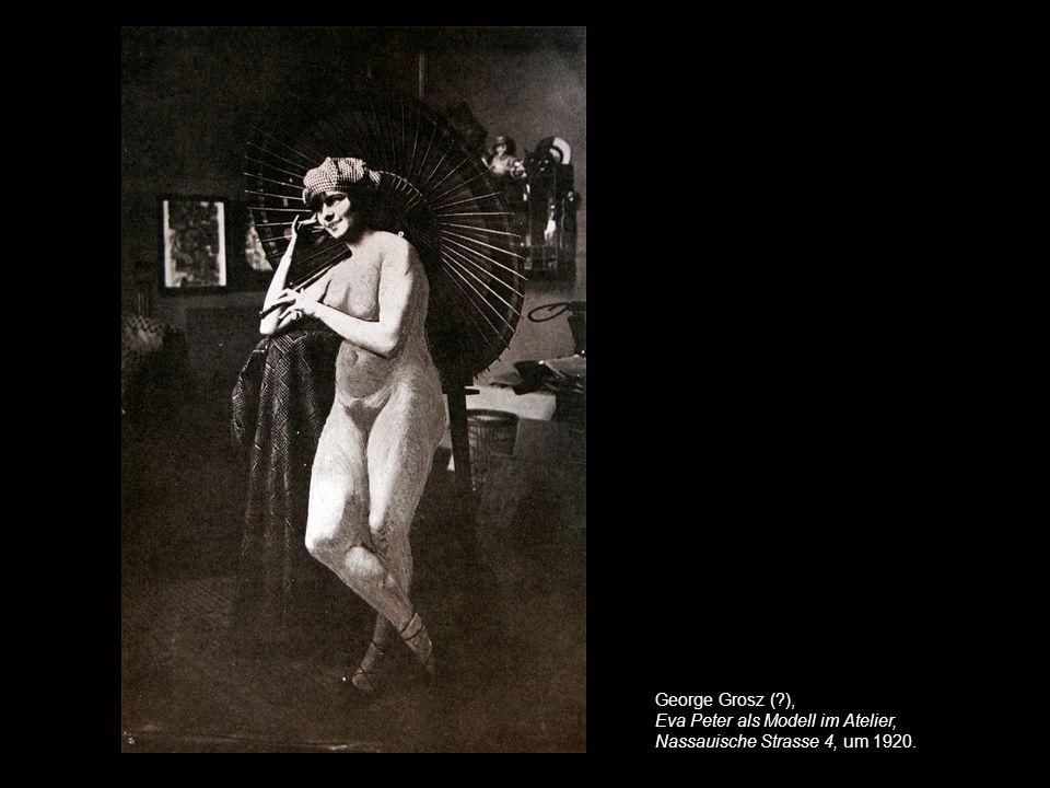 George Grosz ( ), Eva Peter als Modell im Atelier, Nassauische Strasse 4, um 1920.