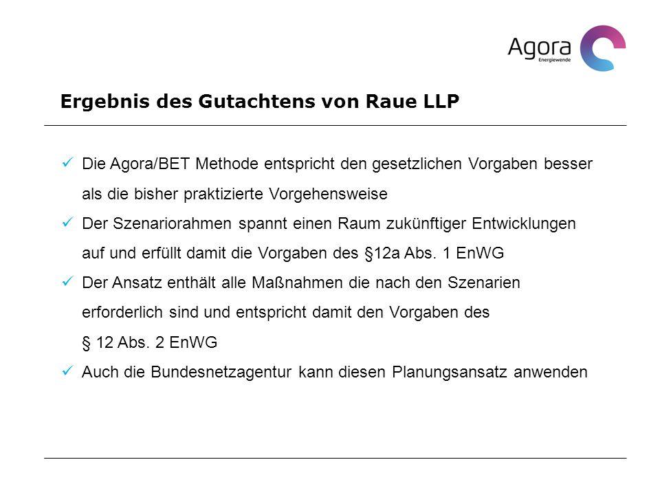 Ergebnis des Gutachtens von Raue LLP
