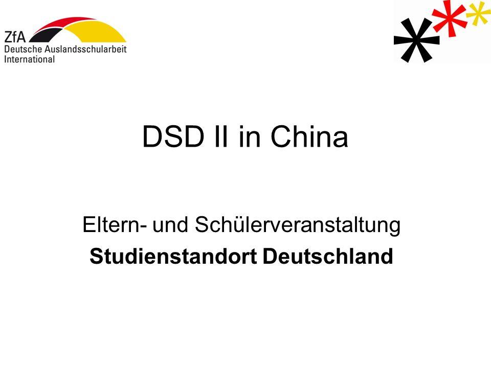 Eltern- und Schülerveranstaltung Studienstandort Deutschland