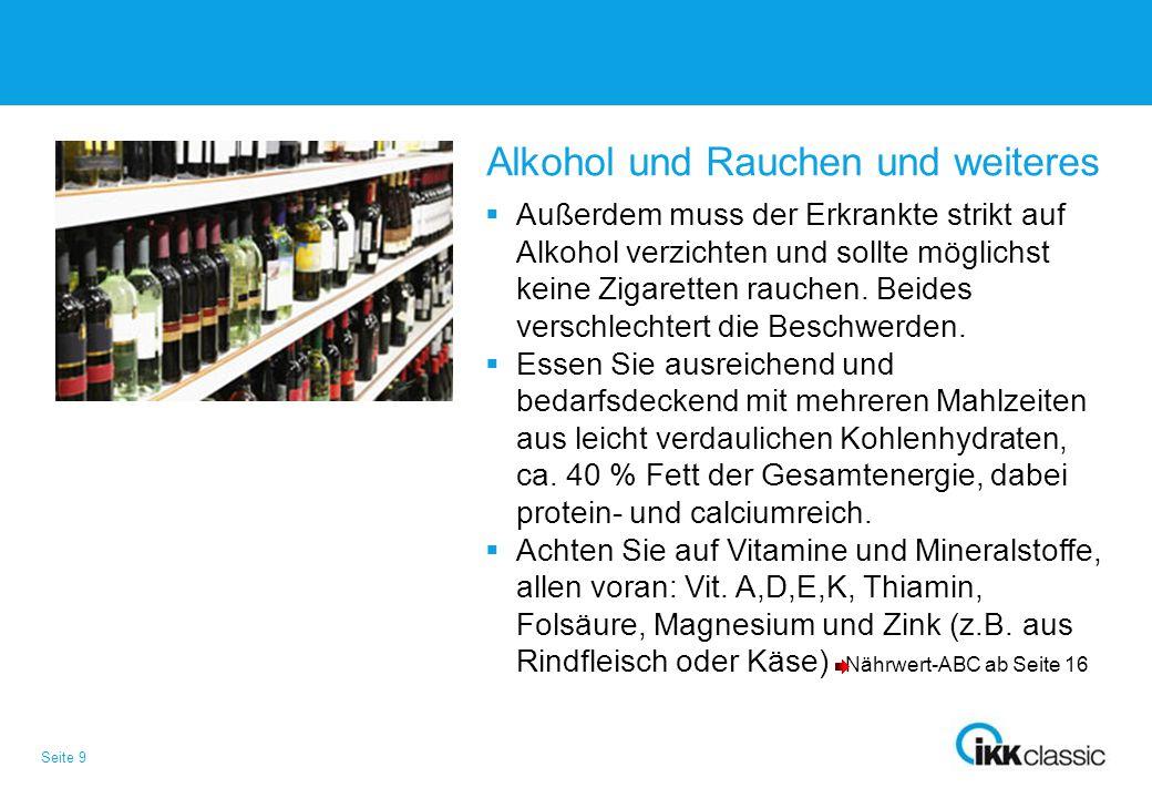 Alkohol und Rauchen und weiteres