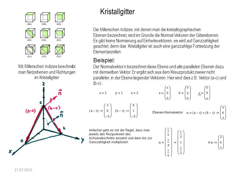 Kristallgitter Beispiel: