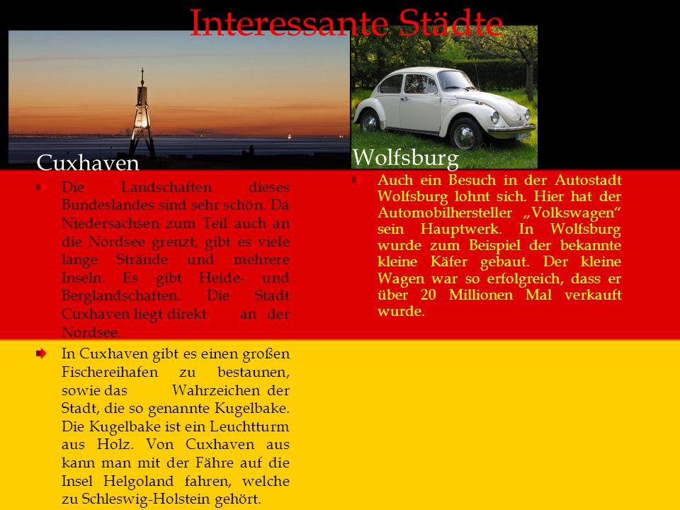 Interessante Städte Wolfsburg Cuxhaven