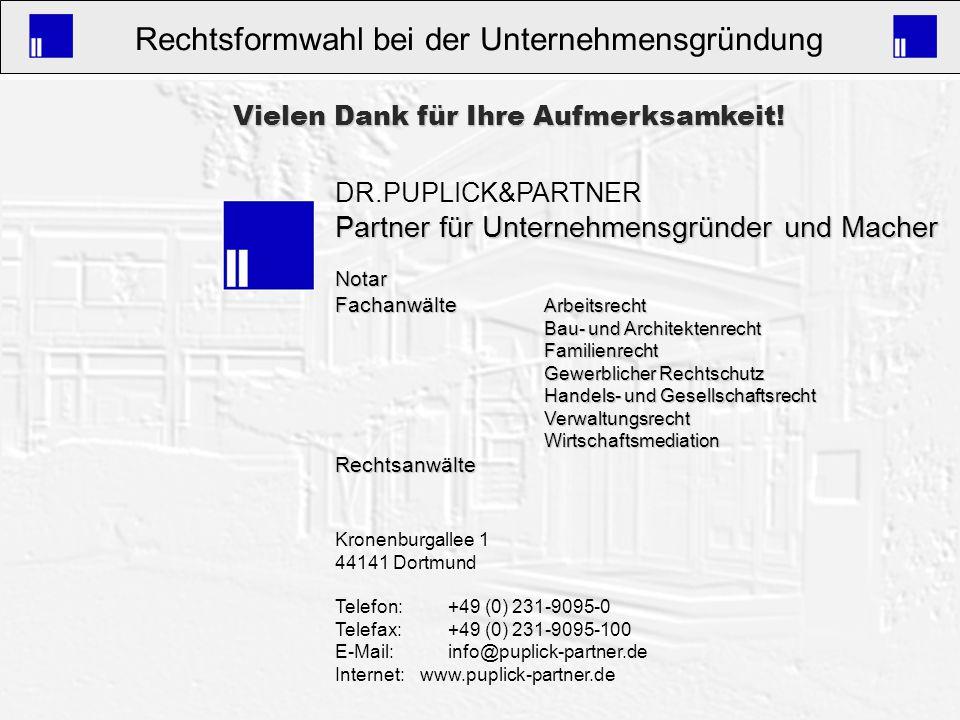 Partner für Unternehmensgründer und Macher