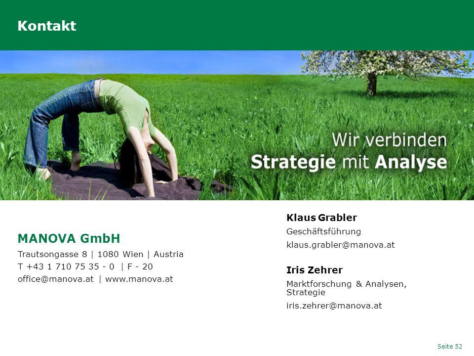 Kontakt MANOVA GmbH Klaus Grabler Iris Zehrer Geschäftsführung