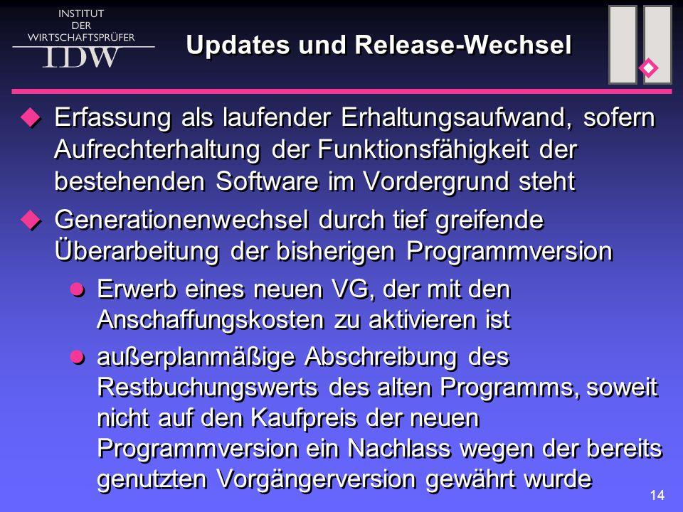 Updates und Release-Wechsel