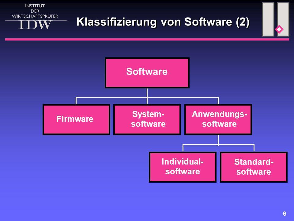 Klassifizierung von Software (2)