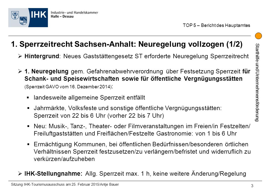 1. Sperrzeitrecht Sachsen-Anhalt: Neuregelung vollzogen (1/2)