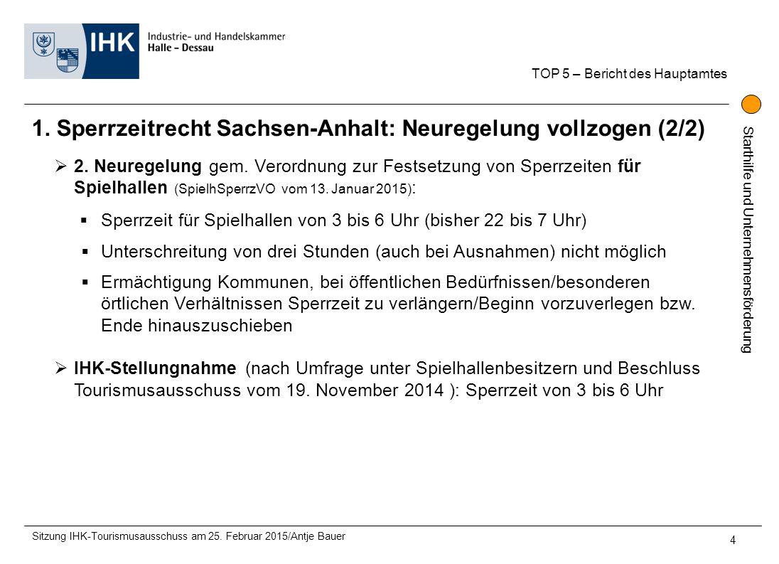 1. Sperrzeitrecht Sachsen-Anhalt: Neuregelung vollzogen (2/2)