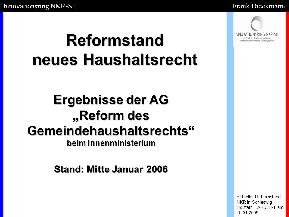 Reformstand neues Haushaltsrecht