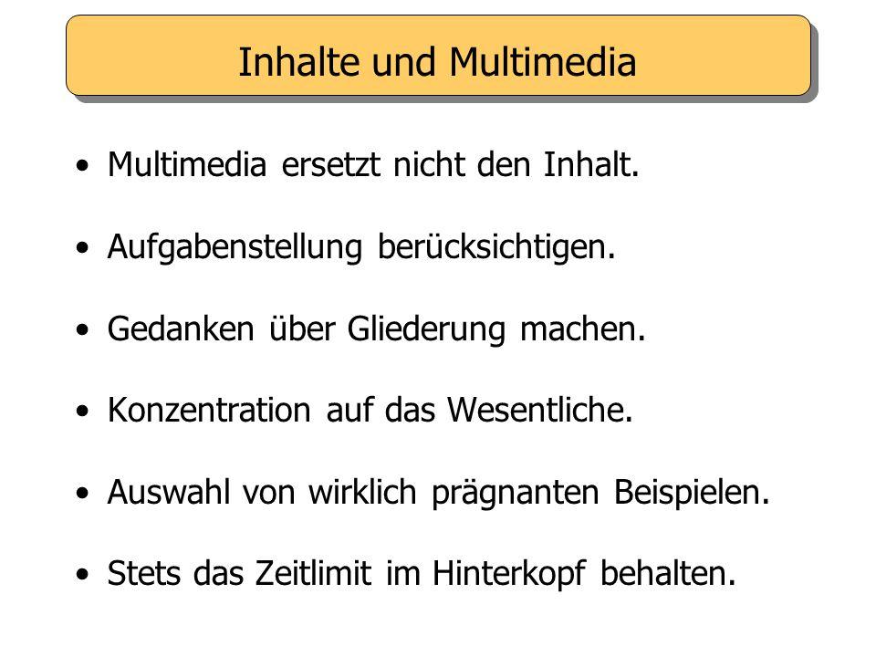Inhalte und Multimedia