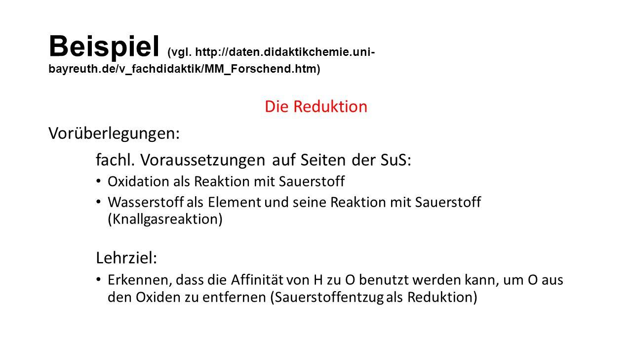 Beispiel (vgl. http://daten. didaktikchemie. uni-bayreuth